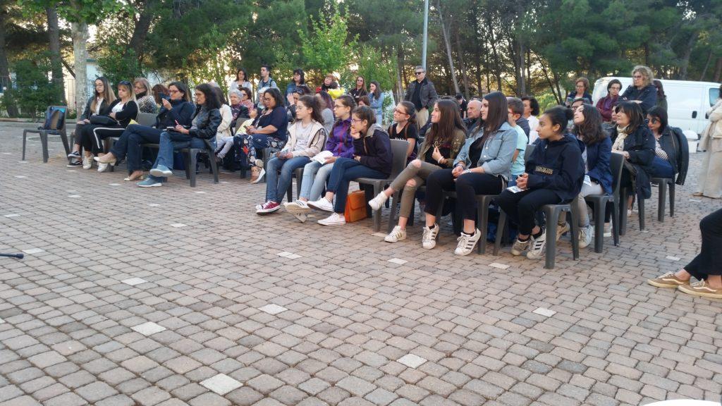 Gli abitanti presenti all'incontro ad Agna con Giorgio Falco