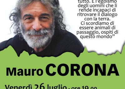 locandina Mauro Corona fb