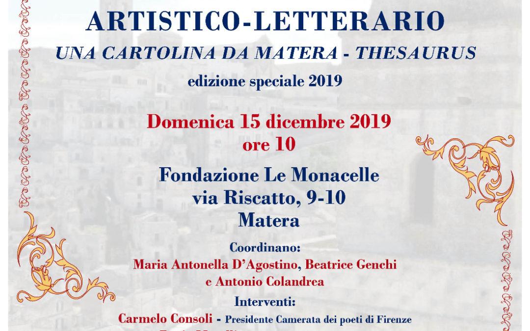 """Due poesie di Amabili Confini 2019 premiate da """"Una cartolina da Matera – Thesaurus"""""""