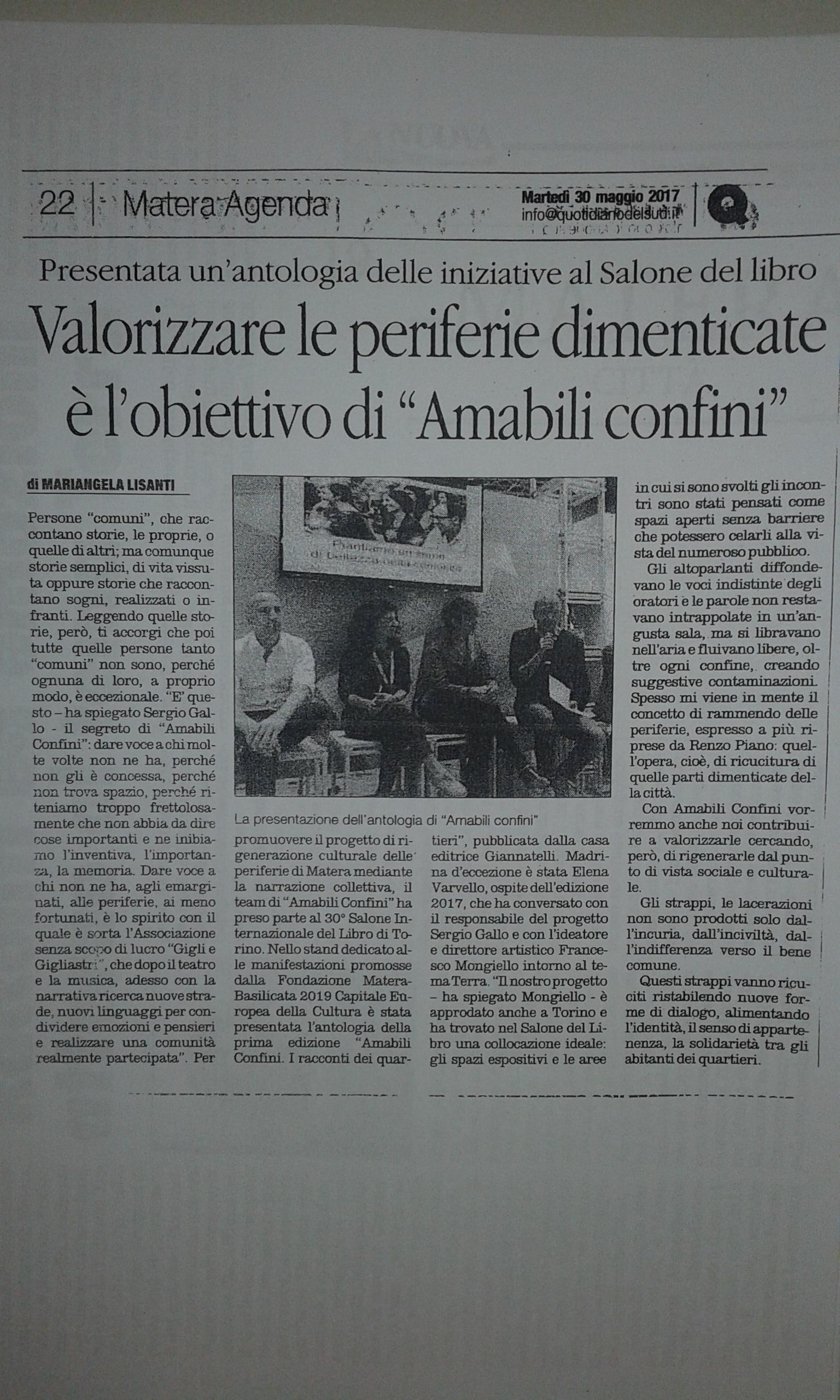 Amabili Confini 2017 - Mariangela Lisanti