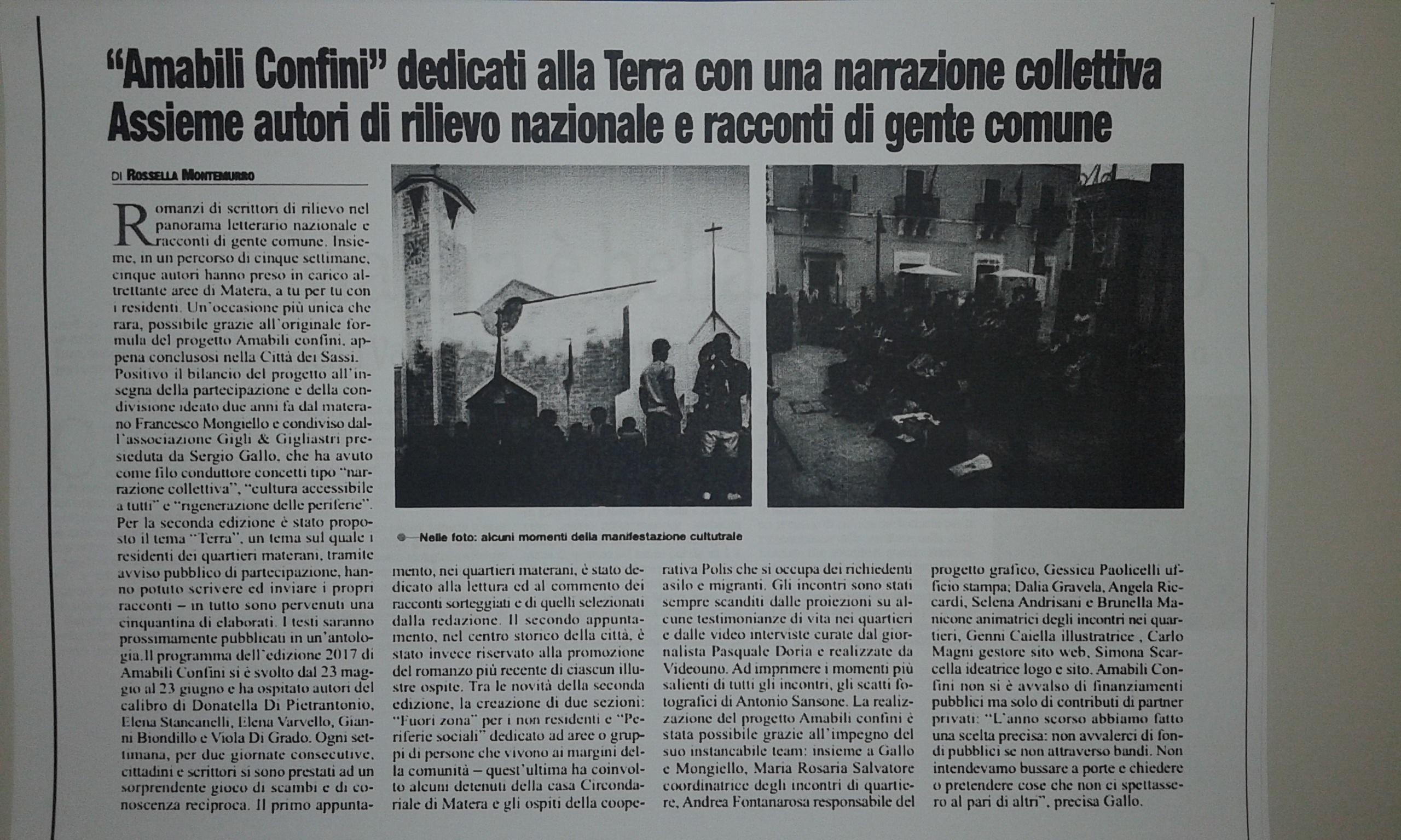 Amabili Confini 2017 - Rossella Montemurro