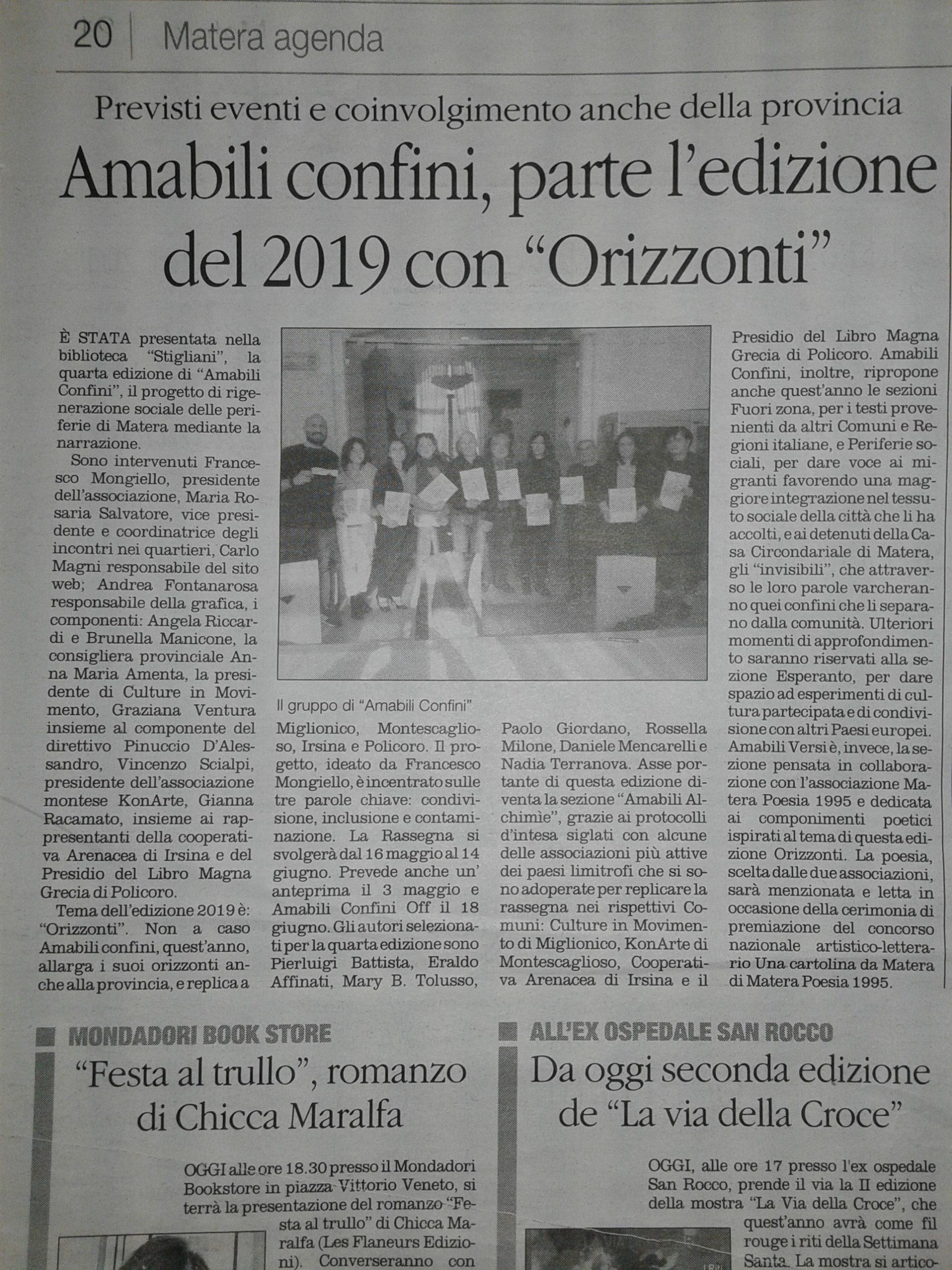 Amabili Confini 2019